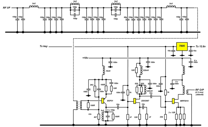 Low power Tx amplifier stages